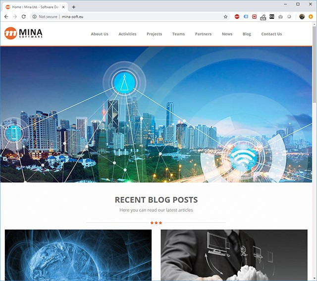 Mina Software Website